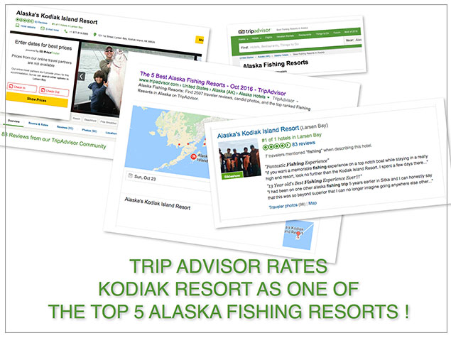 Rated Top 5 Alaska Fishing Lodges by Trip Advisor