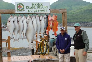 Pat Benn and Lew Becker traveled to our Alaska fishing lodge for some relaxation and wilderness fishing.