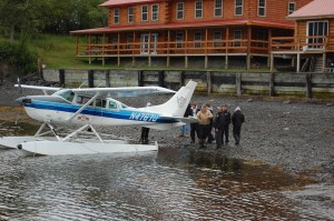 Float plane takes Kodiak Resort guests Flightseeing.....