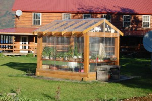Kodiak Island Resort's Greenhouse on a sunny morning....